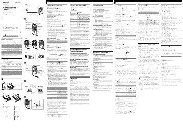 Sony M-535V - M-535V Consignes d'utilisation Hongrois