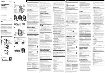 Sony M-850V - M-850V Consignes d'utilisation Suédois