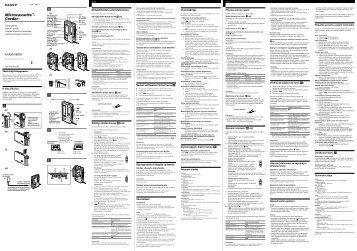 Sony M-850V - M-850V Consignes d'utilisation Polonais