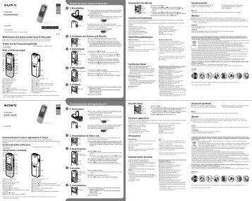 Sony ICD-BX140 - ICD-BX140 Mode d'emploi Portugais