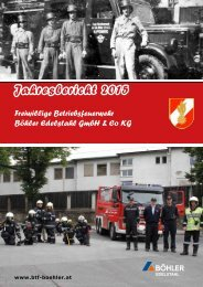 Jahresbericht 2015: Betriebsfeuerwehr Böhler Edelstahl
