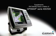 Garmin GPSMAP® 527xs - Supplemento XM Satellite Radio e Meteo