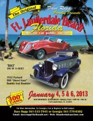 2013 brochure - Ft. Lauderdale Collector Car Auction