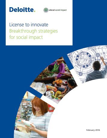 License to innovate Breakthrough strategies for social impact