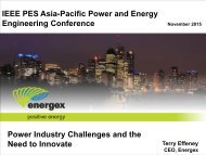 Engineering Conference Power Industry Challenges and the Need to Innovate
