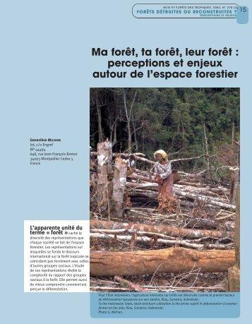Ma forêt, ta forêt, leur forêt : perceptions et enjeux autour de l ... - Hoka