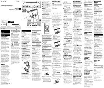 Sony ICF-DS15IPN - ICF-DS15IPN Consignes d'utilisation Suédois