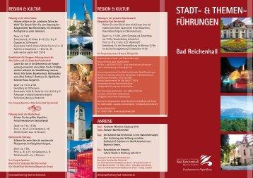 Alpenstadt Bad Reichenhall: Stadt- und Themenführungen 2016