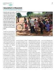 Gesundheit in Mosambik - Liechtensteinischer Entwicklungsdienst
