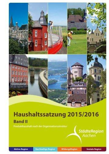 Band-IIa-Haushalt 2015-2016 nach der Organisationsstruktur