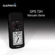 Garmin GPS 72H - Manuale Utente