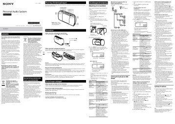 Sony ZS-PE40CP - ZS-PE40CP Consignes d'utilisation Danois