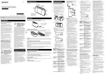 Sony ZS-PE40CP - ZS-PE40CP Consignes d'utilisation Hongrois