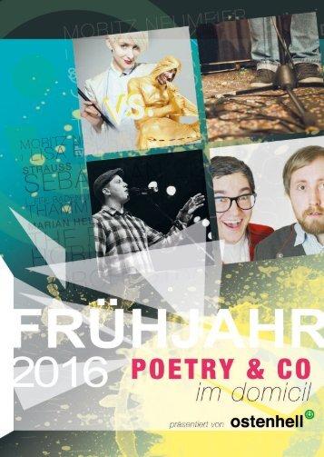 Ostenhell präsentiert: Poetry & Co im domicil (1. Halbjahr 2016)