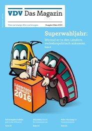 VDV Das Magazin Ausgabe März 2016