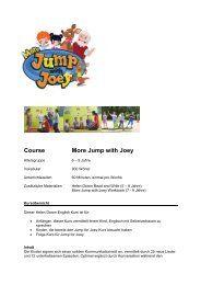 Kursbeschreibung More Jump with Joey