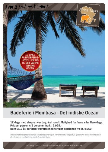 Mombasa badeferie 2017