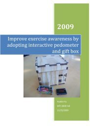 Improve exercise awareness by adopting interactive pedometer and ...