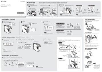 Sony ICF-S80 - ICF-S80 Consignes d'utilisation Estonien