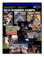 OLATHE NORTHWEST RAVENS 2016 SUMMER CAMPS