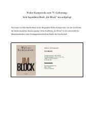 Druckversion (pdf) - Walter Kempowski