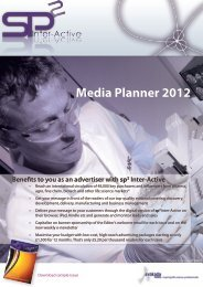 Media Planner 2012 Benefits to you as an advertiser with sp2 Inter ...