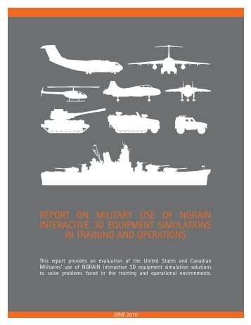 REPORT ON MILITARY USE OF NGRAIN INTERACTIVE 3D ...