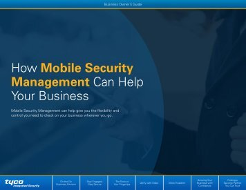 How Mobile Security Management Can Help Your Business