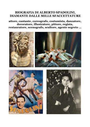 BIOGRAFIA DI ALBERTO SPADOLINI 1907 - 1972