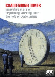Challenging times – Innovative ways of organising working ... - ETUC