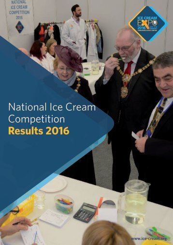 National Ice Cream Competition Results 2016