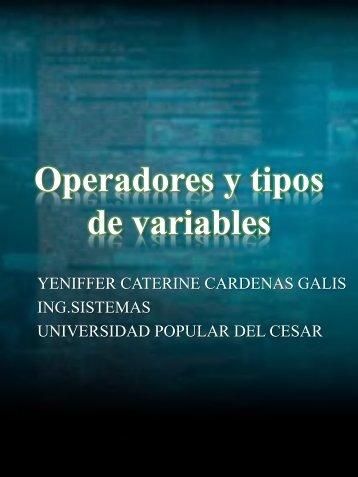 Operadores y tipos de variables