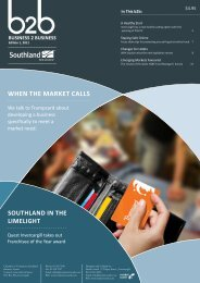 WHEN THE MARKET CALLS - Southland Chamber of Commerce