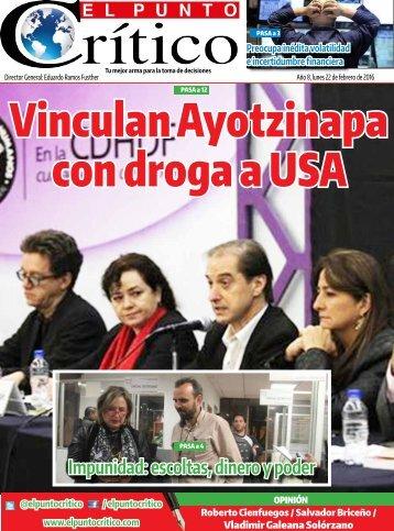 Vinculan Ayotzinapa con droga a USA