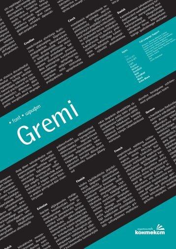 Font Gremi | Шрифт Gremi