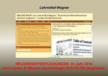Technisches Englisch/ Franzoesisch lernen: Bildungs-Angebot 2016 (Woerterbuch-Leseproben: Automatisierungstechnik/ Technische Abkuerzungen/ kfz-Elektronik/ Elektroberufe)