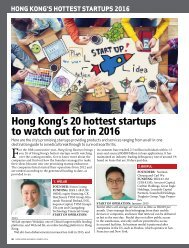 Hong Kong's 20 hottest startups to watch out for in 2016
