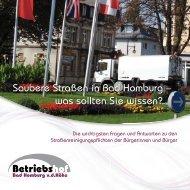 Broschüre Strassenreinigung Bad Homburg v.d.Höhe