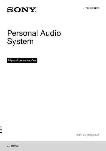 Sony ZS-R100CP - ZS-R100CP Consignes d'utilisation Portugais