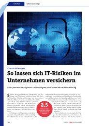 So lassen sich IT-Risiken im Unternehmen versichern