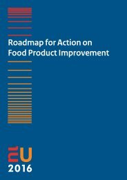 Roadmap for Action on Food Product Improvement