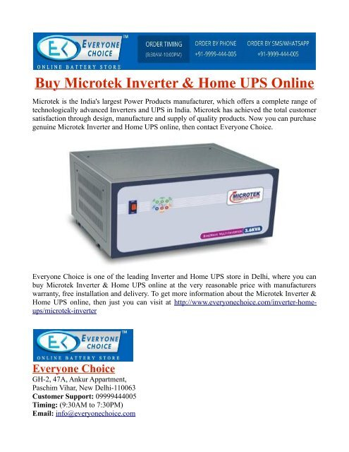 Buy Microtek Inverter & Home UPS Online