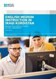 ENGLISH MEDIUM INSTRUCTION IN IRAQI KURDISTAN