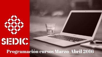 Programación cursos Marzo-Abril 2016
