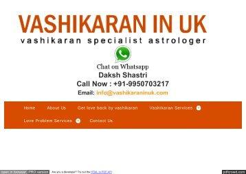 Vashikaran Specialist Totke