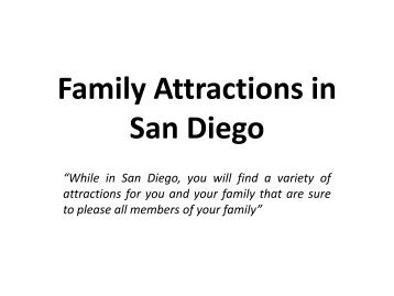 Family Attractions in San Diego