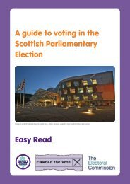 A guide to voting in the Scottish Parliamentary Election Easy Read