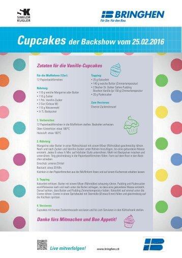 Cupcakes Rezept der live TV Backshow