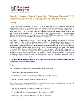Frontier Pharma Chronic Obstructive Pulmonary Disease (COPD) - Identifying and Commercializing First-in-Class Innovation