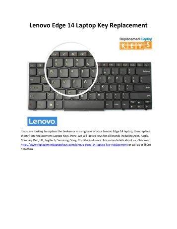 Lenovo Edge 14 Laptop Key Replacement